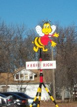 Bee sign - Bee, Nebraska